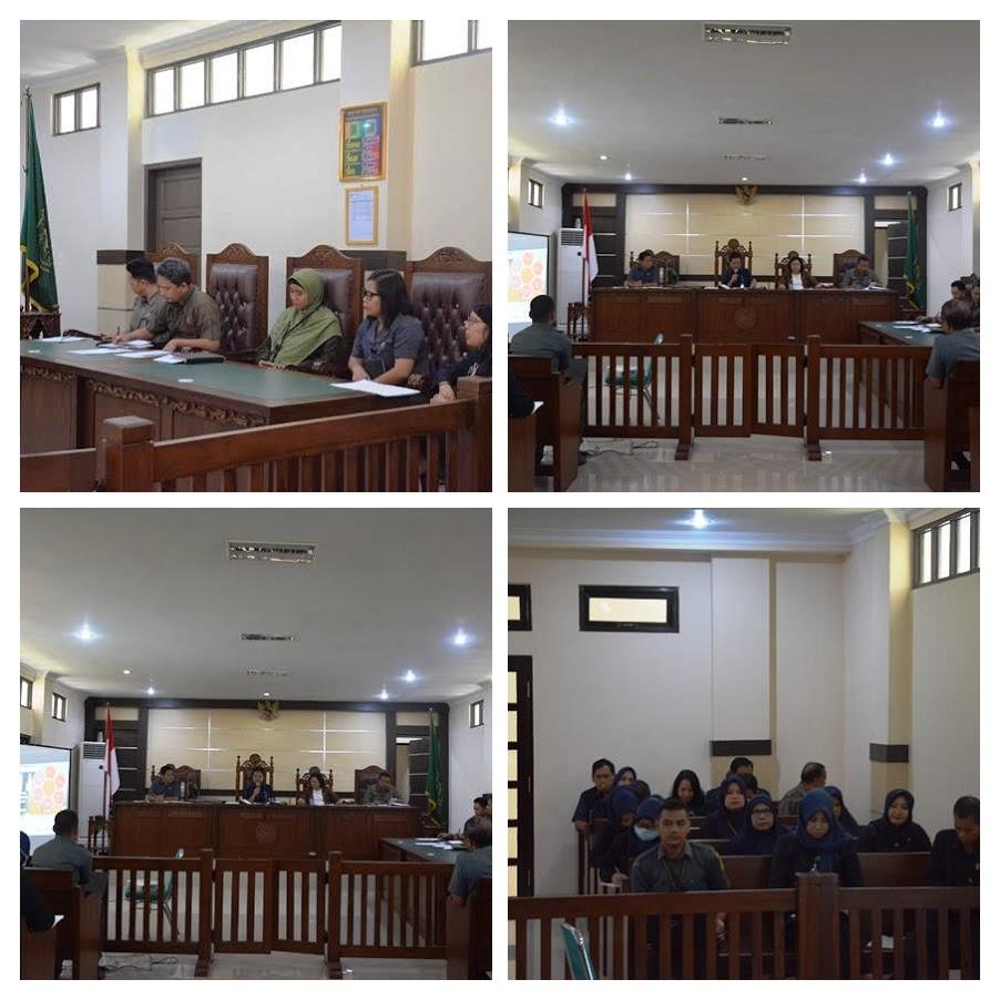Pembinaan Dan Rapat Evaluasi Bulanan Pengadilan Maros Bulan Februari Th,2020